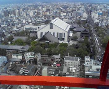 京都タワーより