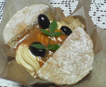 黒糖のシフォンケーキ